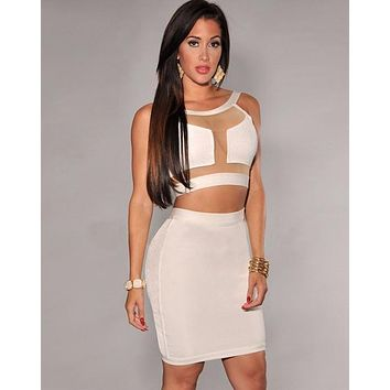 Naomi fashion two piece set in White&Black colors