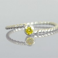 Topaz Silver Wave Ring