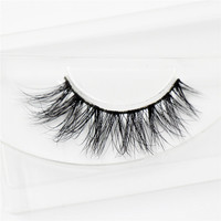 3D Mink Eyelash Real Mink Handmade Crossing Lashes Individual Strip Thick Lash Fake Eyelashes A04