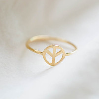 peace ring,peace sign ring,peace sign jewelry,R173N