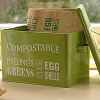retro kitchen compost bin by freshly forked   notonthehighstreet.com