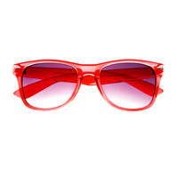 Transparent Translucent Retro Party Style Wayfarer Sunglasses W50