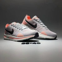 """Nike Zoom"" Women Sport Casual Multicolor Flywire Sneakers Light Running Shoes"