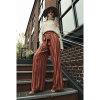 Barefoot And Free Striped Pants (Rust)