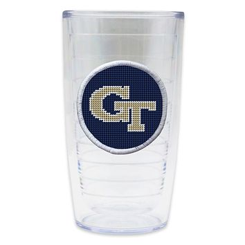 Georgia Tech Needlepoint Tumbler by Smathers & Branson