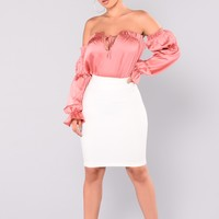 Can Do Both Mini Skirt - Ivory