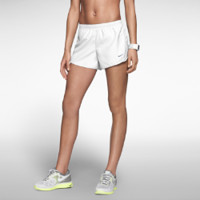 Nike Modern Tempo Embossed Women's Running Shorts Size Large (White)