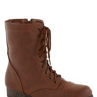 ModCloth Steampunk Path and Present Boot in Chestnut