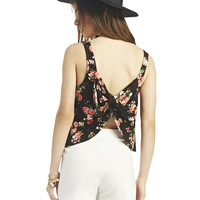 Camila Bow Back Floral Crop Tank | Wet Seal