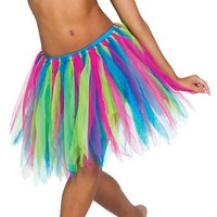 Adult Tattered Tutu Skirt,A28169,multi-colored,One-Size