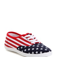 Sale- Red Proud To Be Printed Sneakers