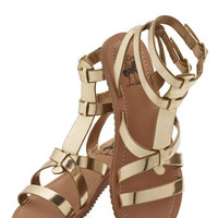 ModCloth Luxe Glimmer is Served Sandal in Gold