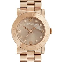 Marc By Marc Jacobs   Marc By Marc Rose Gold & Gravel Amy Watch at ASOS