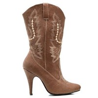 Ellie Shoes Women's 418 Cowgirl Western Boot, Brown, 7 M US
