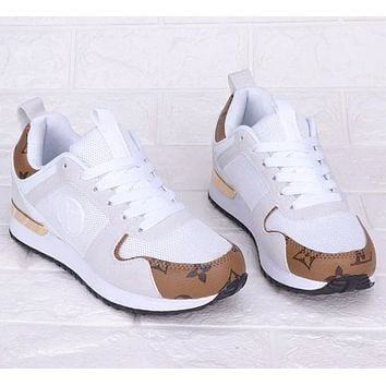 Louis Vuitton LV Hot Sale Women Personality Shoes Sneakers White