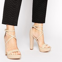 Windsor Smith Mariah Nude Platform Heeled Sandals