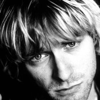 Kurt Cobain Face Fabric Poster