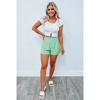 Little Sprout Cropped Top: Ivory/Multi
