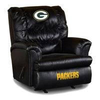 Green Bay Packers Leather Big Daddy Recliner