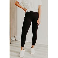 Pace Yourself Leggings - Black