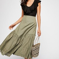 Run Away With Me Midi Skirt