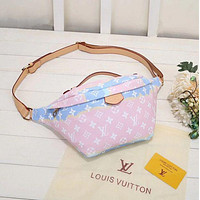 Louis Vuitton LV Fashion Leather Waist Bag Single Shoulder Ba