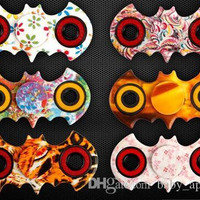 Batman Camouflage Fidget Spinner HandSpinner Fingertips Torqbar Camo Hand Tri-Spinner Bat EDC Decompression Toys with retail box DHL