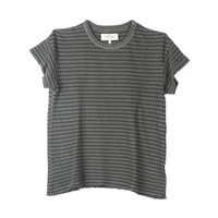 The Great Grey Striped Boxy Crew Tee / Shop Super Street