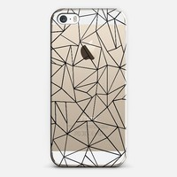 Abstraction Outline Transparent iPhone 5s case by Project M   Casetify