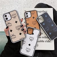 MCM classic presbyopic iPhone7/8/X/11/12 mobile phone case protective cover 1