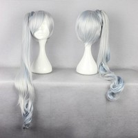 Clearance!!! Weiss Schnee RWBY White Weiss Schnee Long Straight Cosplay Hair Wig Ombre Wigs CS002