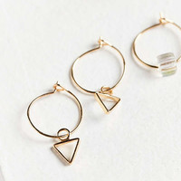 Triangle Post + Hoop Earring Set | Urban Outfitters