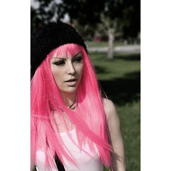 Anime Cute Wig Colored Synthetic Hair