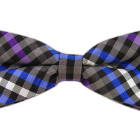 Ivy Checked - Black/Purple (Bow Ties) from TheTieBar.com - Wear Your Good Tie Everyday