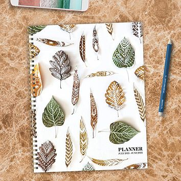 July 2021-June 2022 Stems & Leaves Large Daily Weekly Monthly Planner + Coordinating Planning Stickers