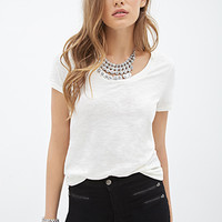 LOVE 21 Classic Cotton Knit Tee