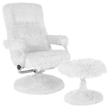 Chelsea Contemporary Recliner and Ottoman