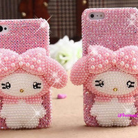 iphone 5 case 3d iphone 4 case Bling iPhone 4s Case rhinestone iPhone 4s Case luxury iphone 5 cover Cute iPhone Case Galaxy S3 my melody