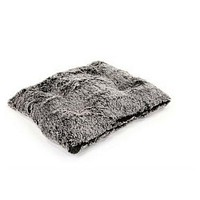 Square Pillow Bed — Frosted Black Shag
