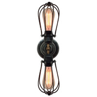 Industrial Double Arms Cage Wall Sconce Wall Lamp living room wall light bathroom wall sconce dining room wall lighting wall lamp