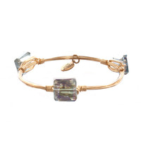 Bourbon & Boweties Small Smoke Iridescent Square Bangle