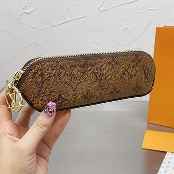 LV Louis Vuitton new letter printing pattern pencil case cosmetic brush bag #3