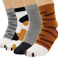 Women's Sweet Animal Cotton Blend Socks Set One Size Fits All
