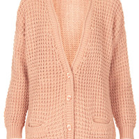 Knitted Textured Cardi - Knitwear - Clothing - Topshop