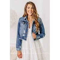 I'll Stand By You Distressed Denim Jacket