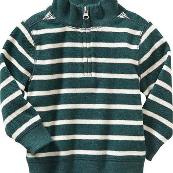 Old Navy Striped Half Zip Pullover For Baby
