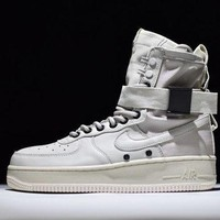 PEAPONVX Jacklish Nike Special Field Air Force 1 High Tops Triple White All White Sale