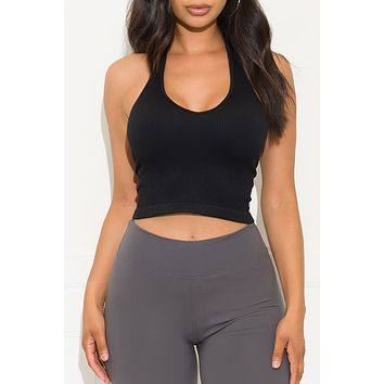 What I Want Crop Top Black