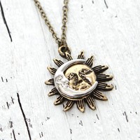 With Love From CA Sun & Moon Short Necklace - Womens Jewelry - Multi - One