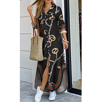 Fashion sexy shirt dress